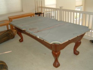 Proper pool table moving process in Ponca City Oklahoma